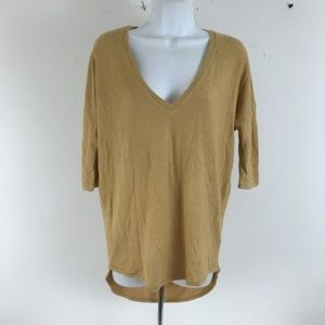 Express Oversize Slouchy Sweater V-Neck 3/4 Sleeve